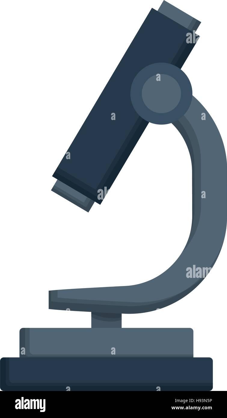microscope science tool - Stock Vector