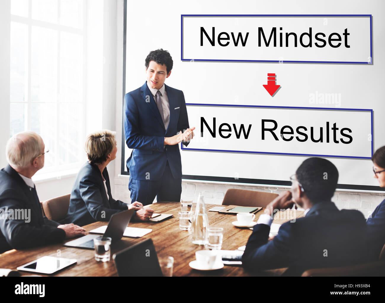 Mindset Opposite Positivity Negativity Thinking Concept - Stock Image