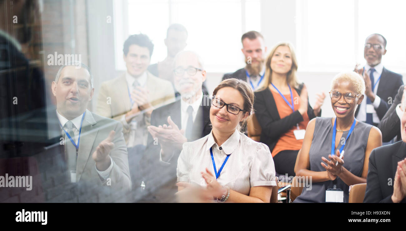 Applause Appreciation Award Cheerful Meeting Concept - Stock Image