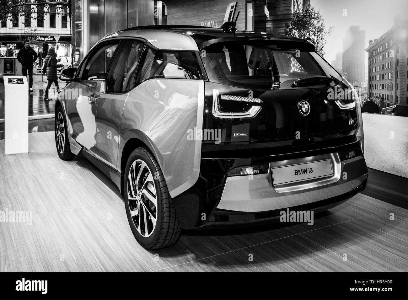 Showroom. The BMW i3 - Stock Image