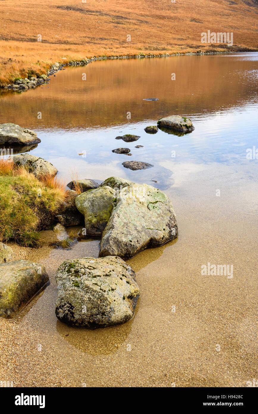 Coire-Fhionn Lochan, Isle of Arran, North Ayrshire, Scotland - Stock Image