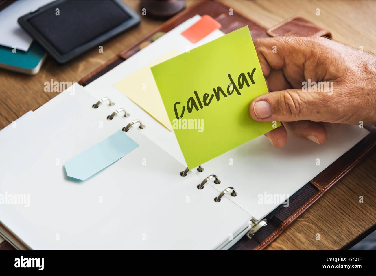 Calendar Urgent Attention Agenda Concept - Stock Image