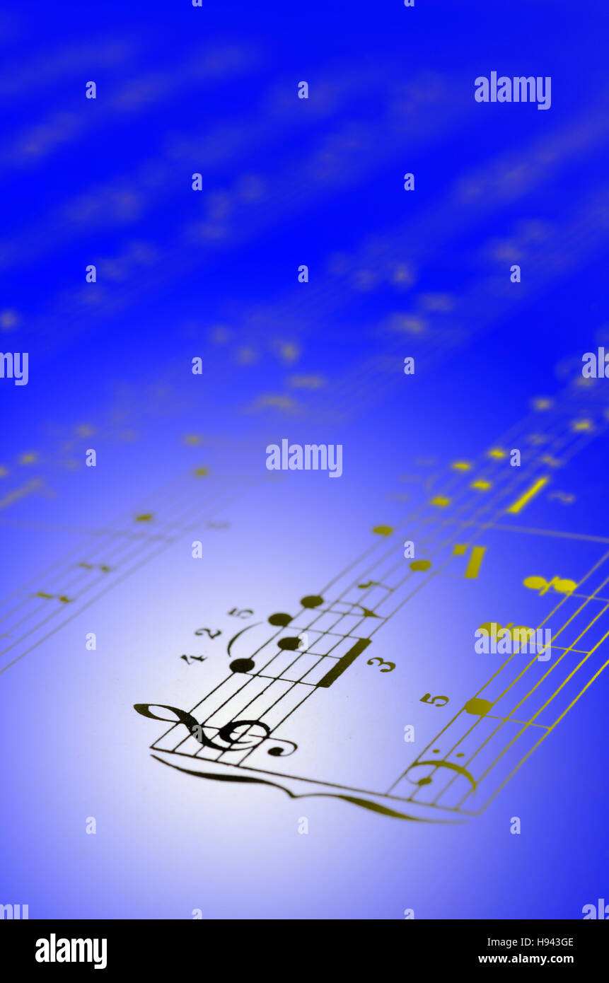 Close up of Music score background : piano notes Stock Photo