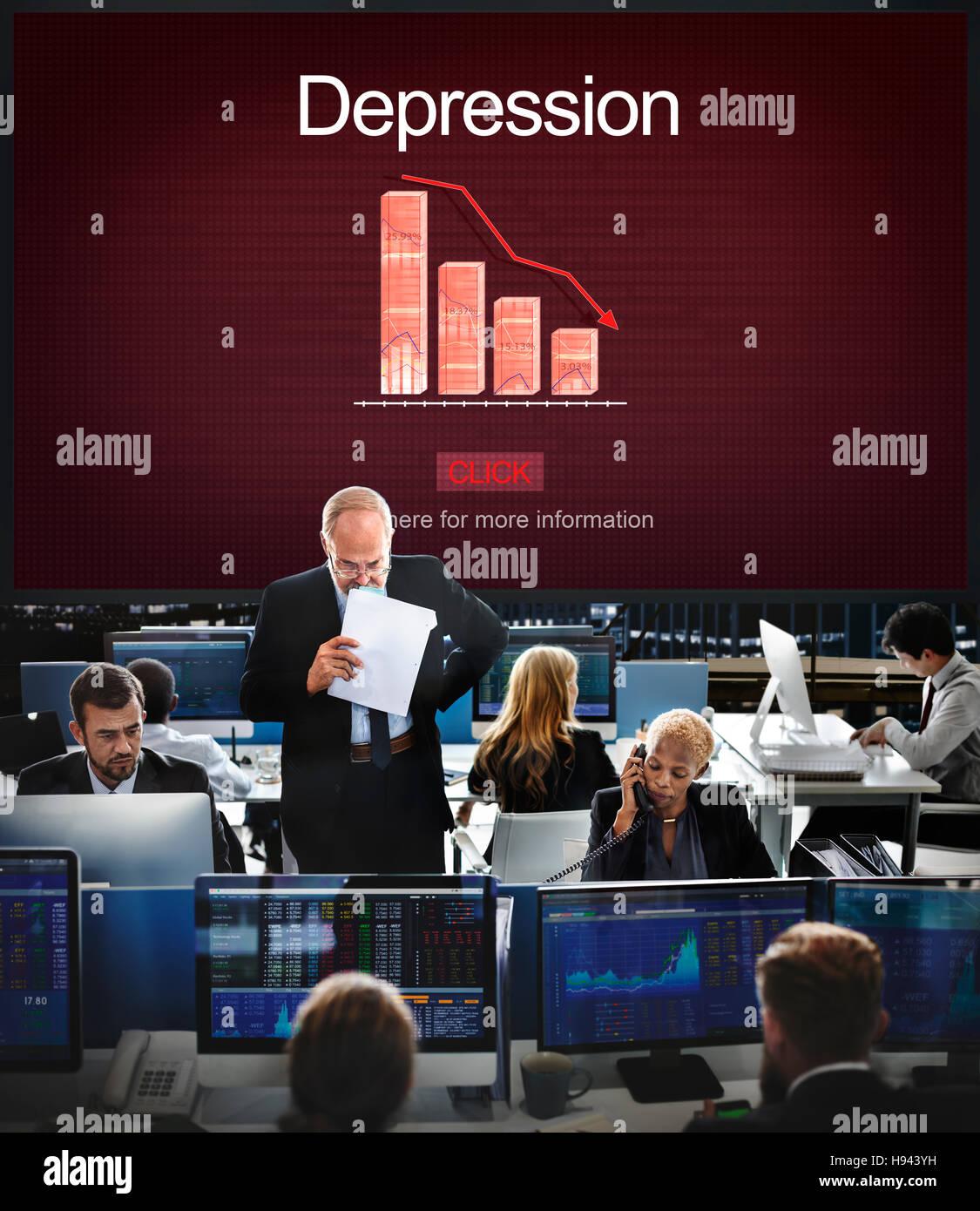 Depression Disorder Downturn Illness Medicine Concept - Stock Image