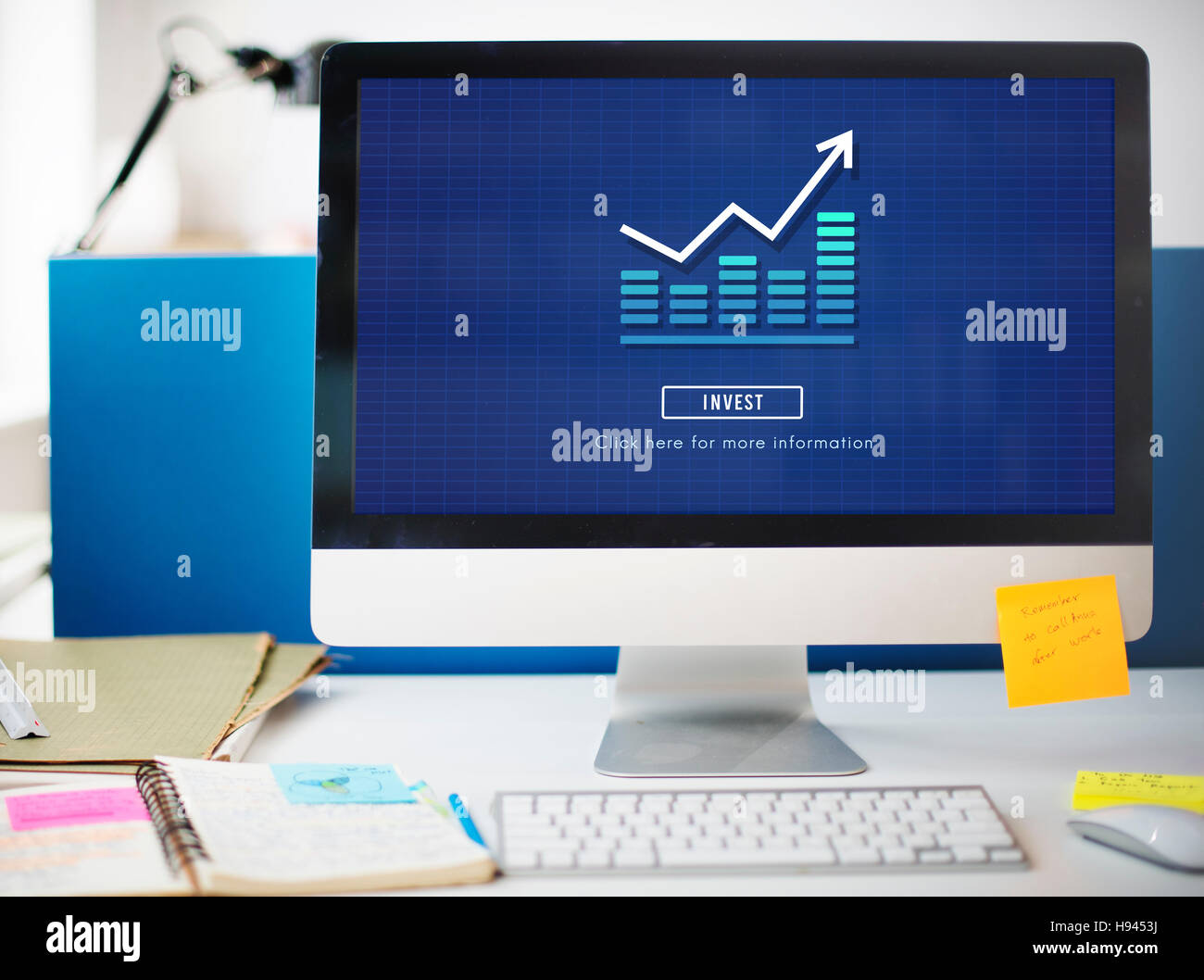 Graph Chart Invest Report Icon Concept - Stock Image