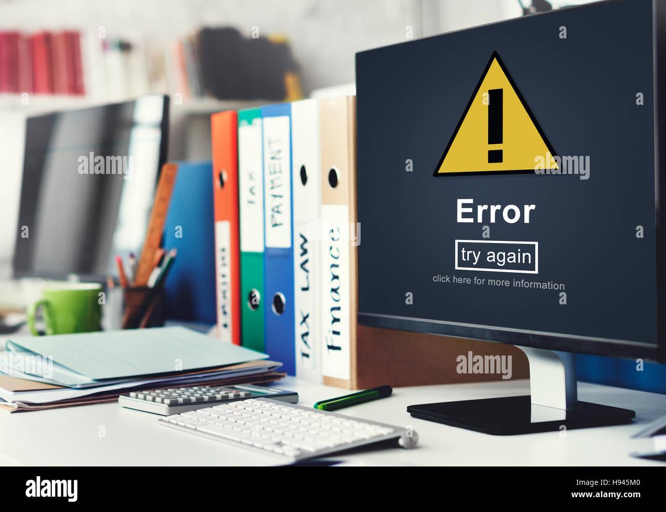 Error Mistake Online Reminder Beware Alert Concept - Stock Image