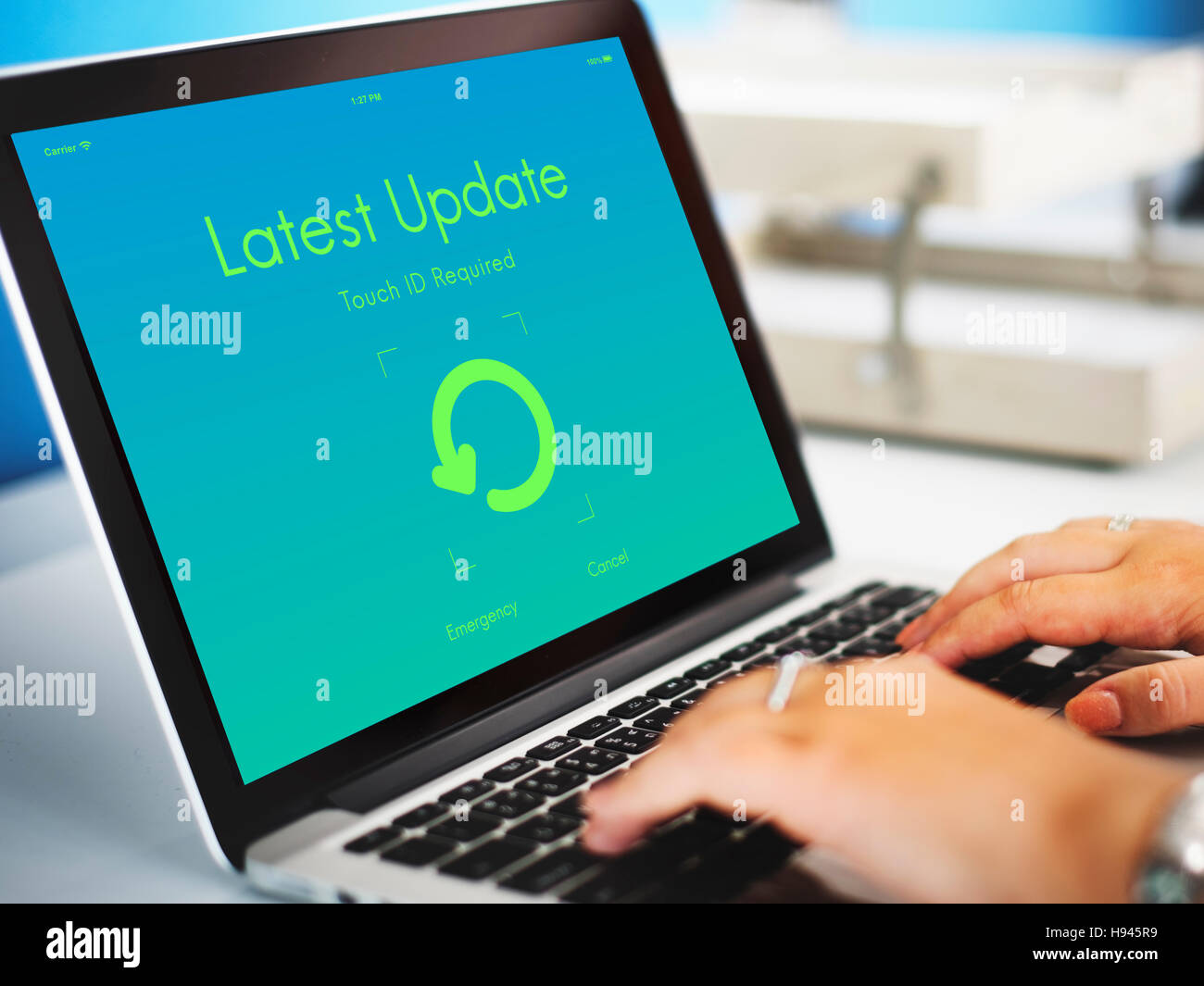 Latest Update Upgrade New Version Concept - Stock Image