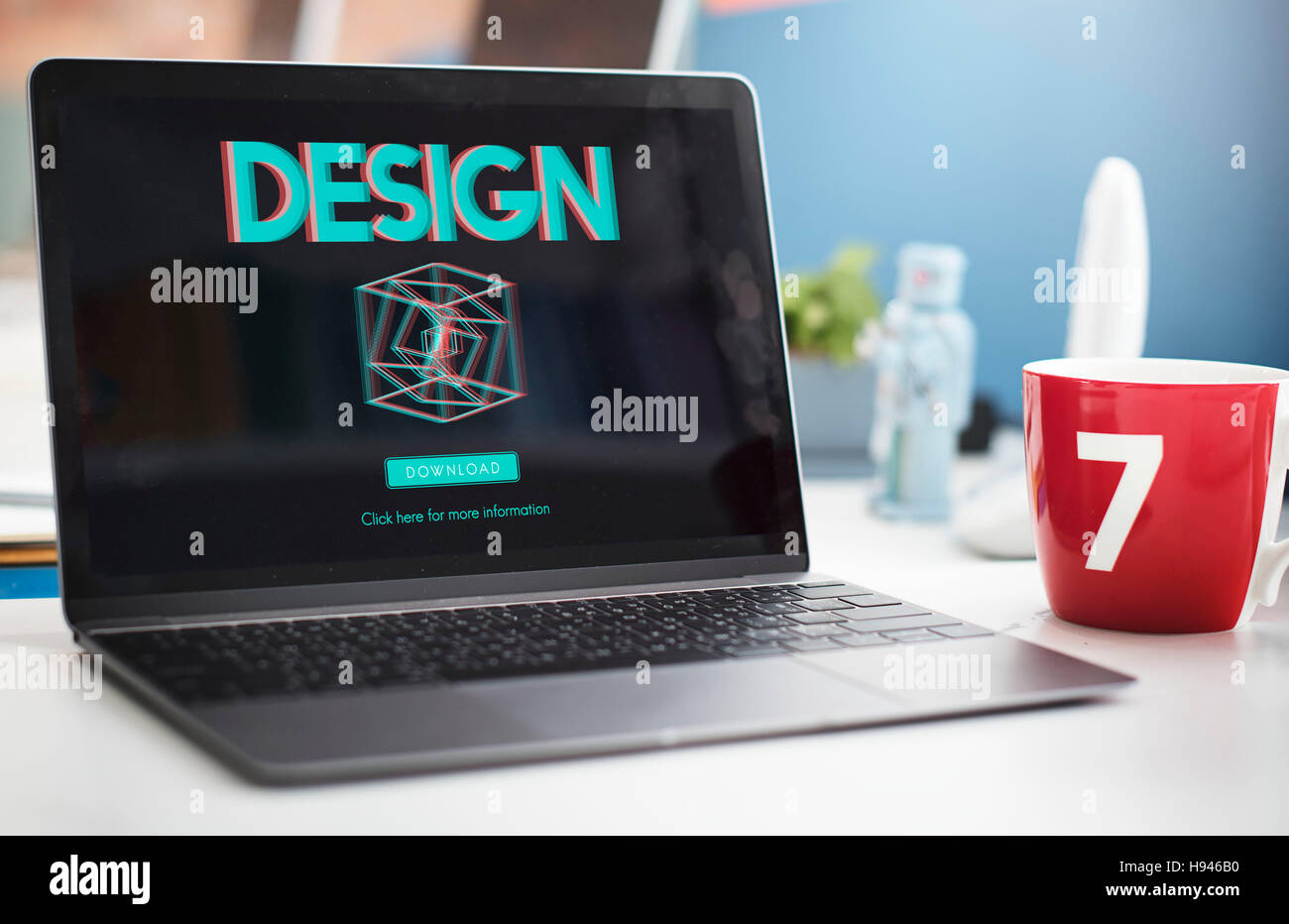 3D Three Dimensional Futuristic Display Modern Concept - Stock Image