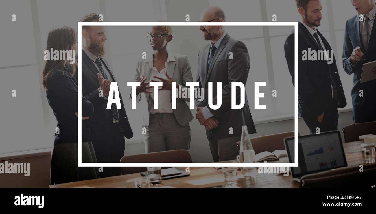 Attitude Thinking Outlook Ideas Viewpoint Concept - Stock Image