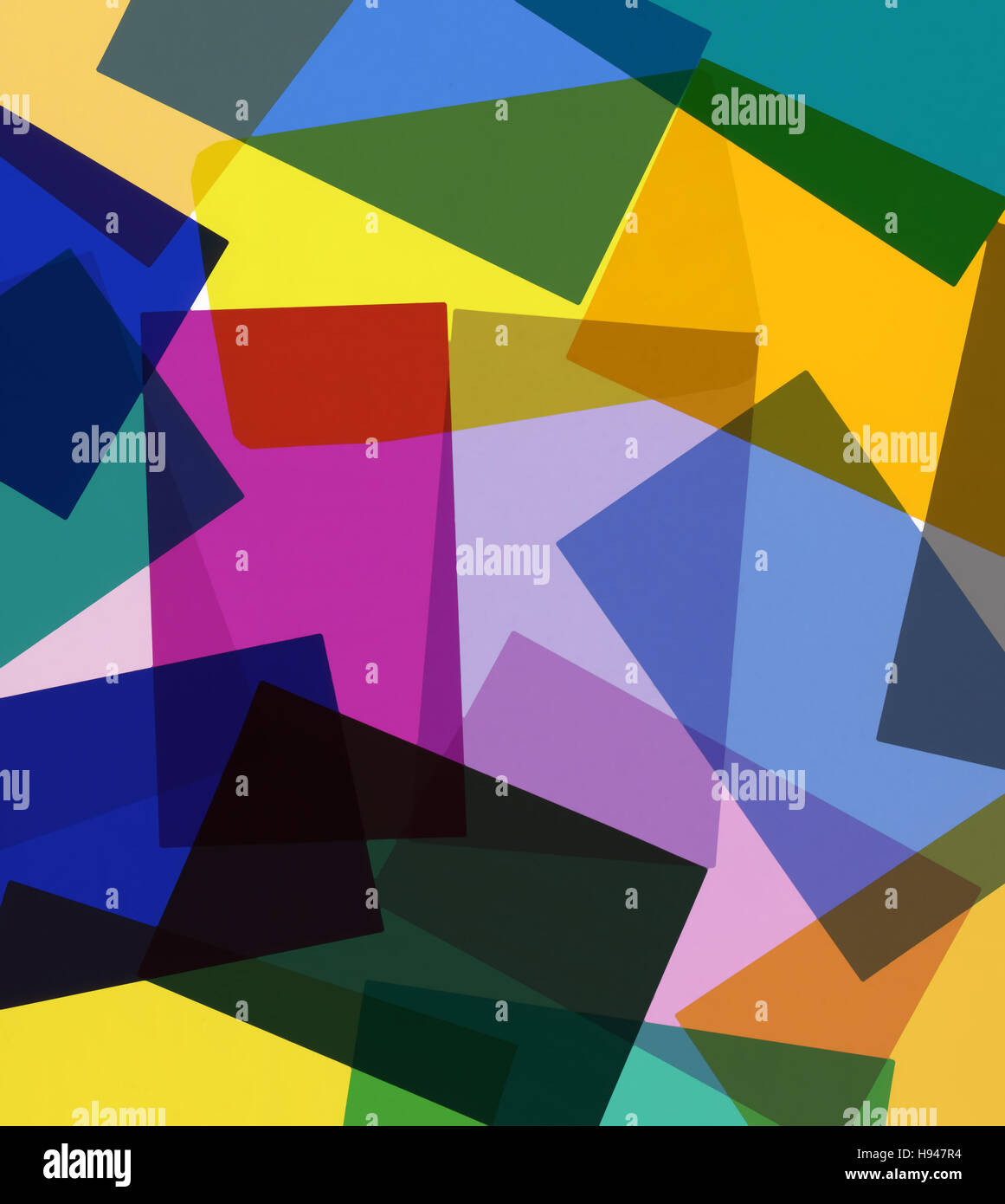 Colored gel filters background - Stock Image