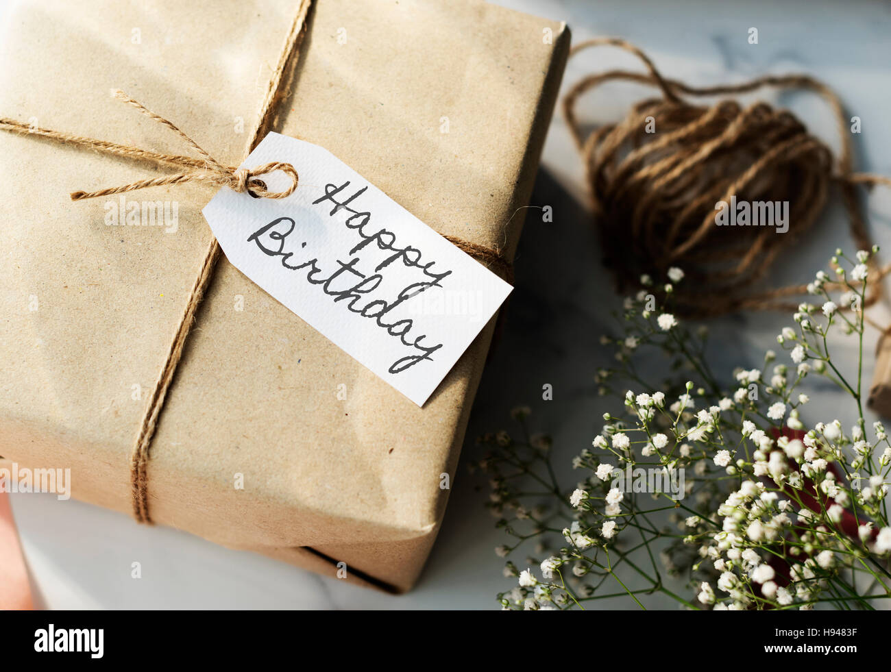 HBD Happy Birthday Celebration Congratulation Party Concept - Stock Image