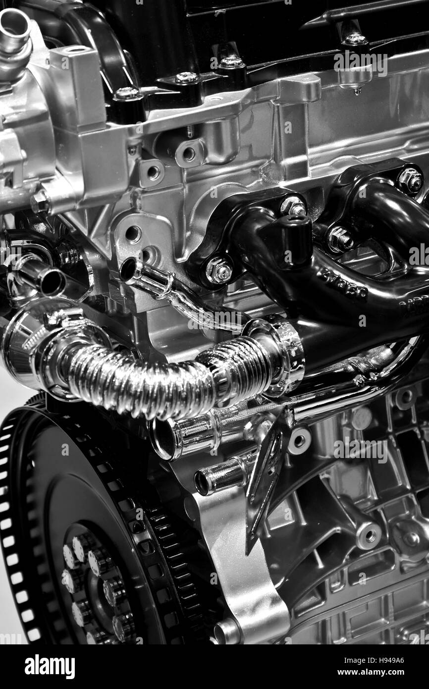 Detail of a car engine - Stock Image