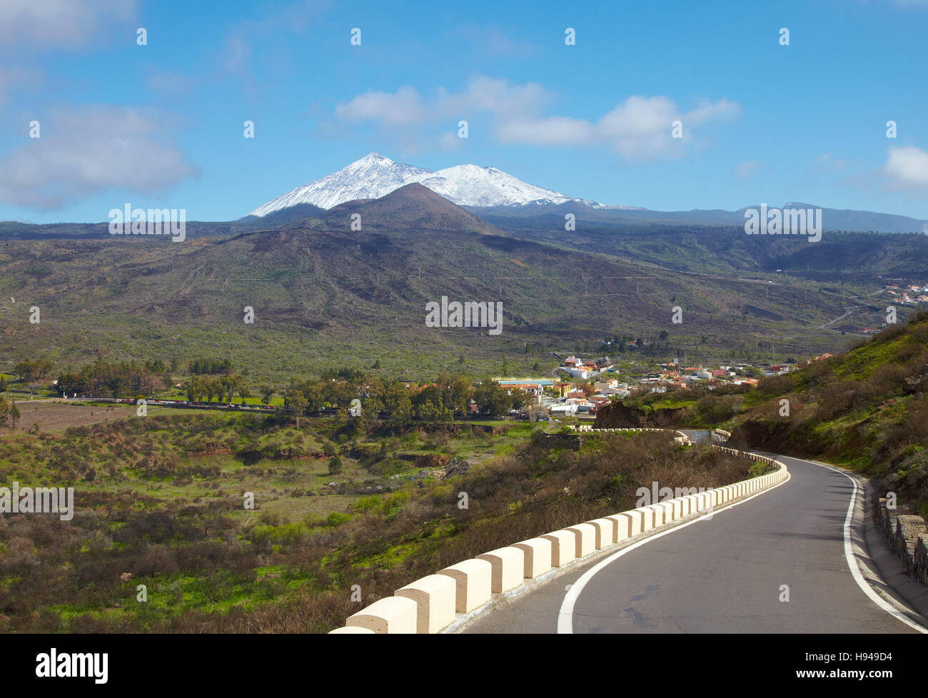 Road to Santiago del Teide, Tenerife, Spain - Stock Image