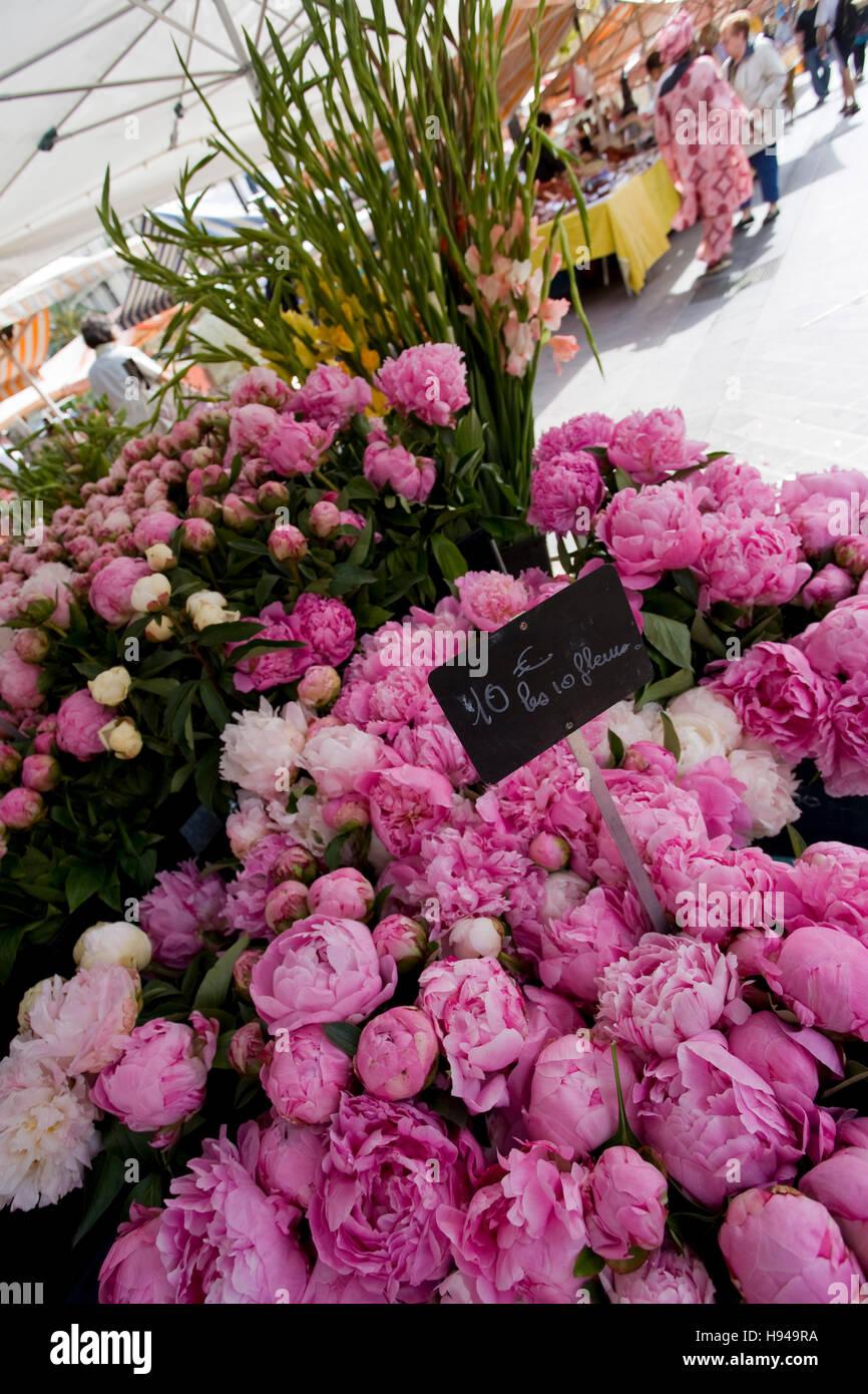 Nice Flower Tattoo Ideas For Women: Flower Market Nice France Stock Photos & Flower Market