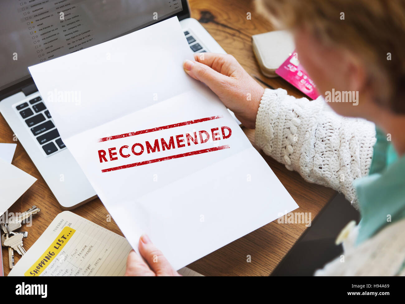 Recommended Offer Refer Satisfaction Suggestion Concept - Stock Image