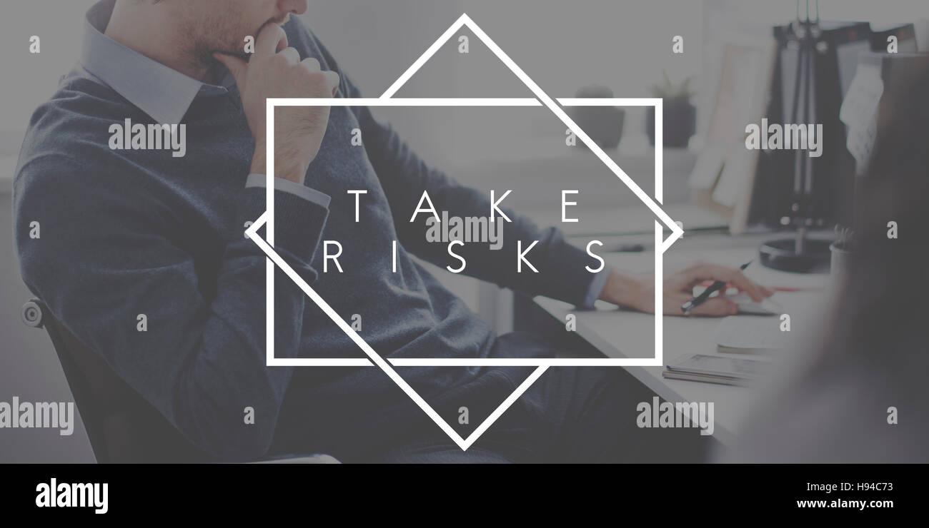 Take Risks Danger Chance Planning Analysis Concept - Stock Image