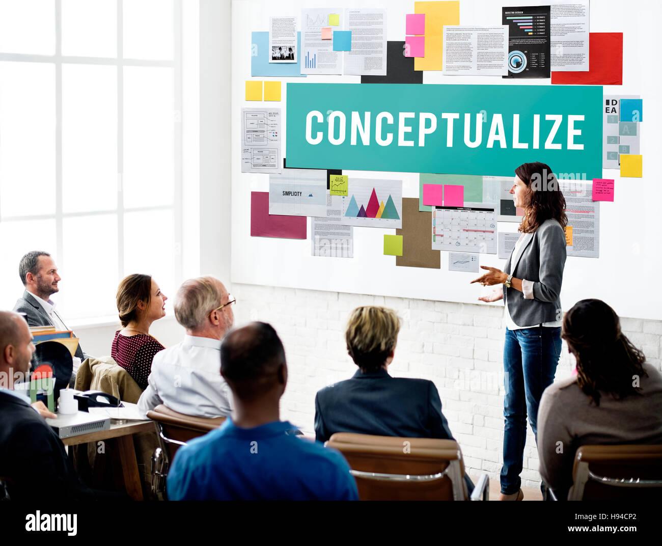 Conceptualize Intention Notion Perception Concept - Stock Image
