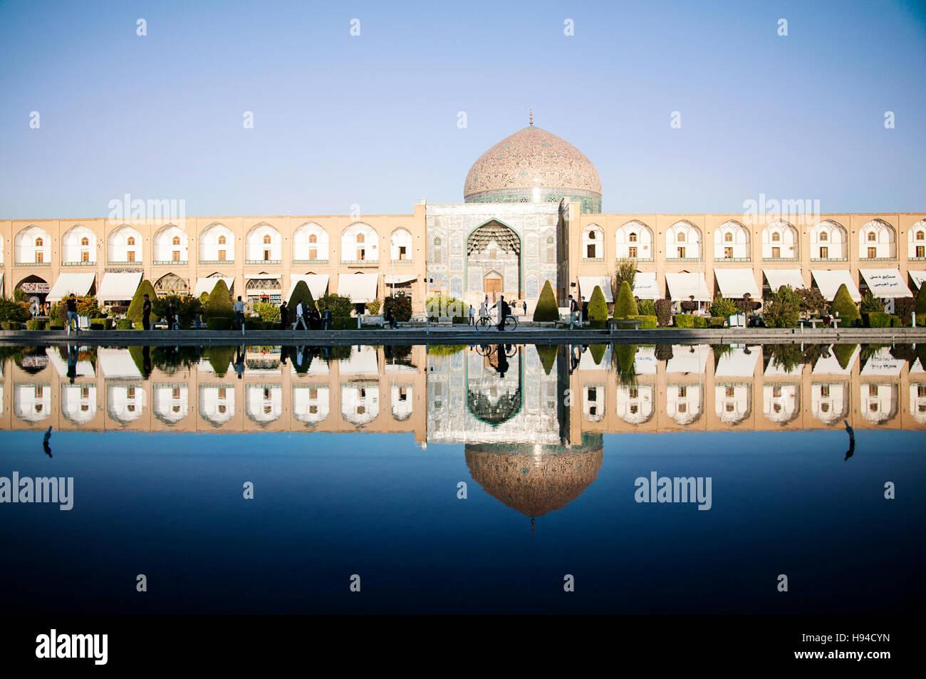 Masjed-e Sheikh Lotfollah, Isfahan, Iran - Stock Image