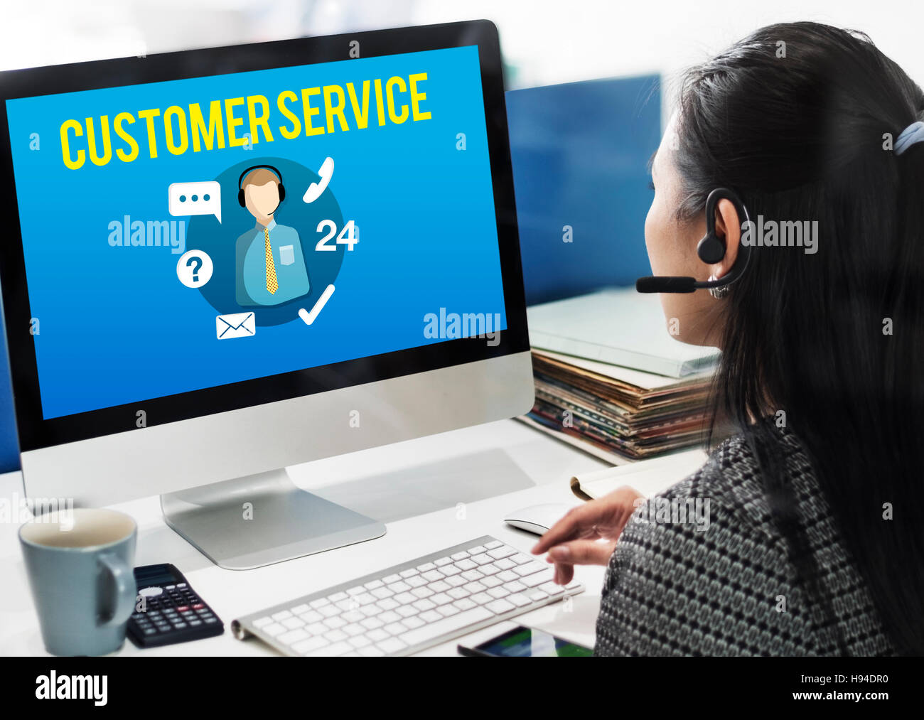 Customer Service Satisfaction Assistance Support Concept - Stock Image