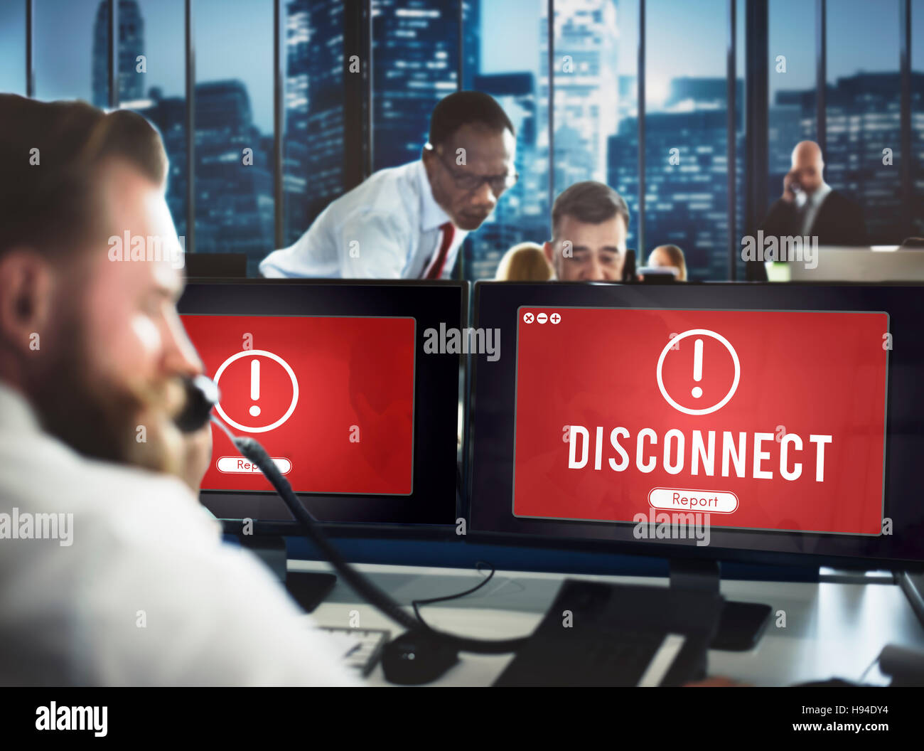 Disconnect Network Problem Technology Software Concept Stock Photo