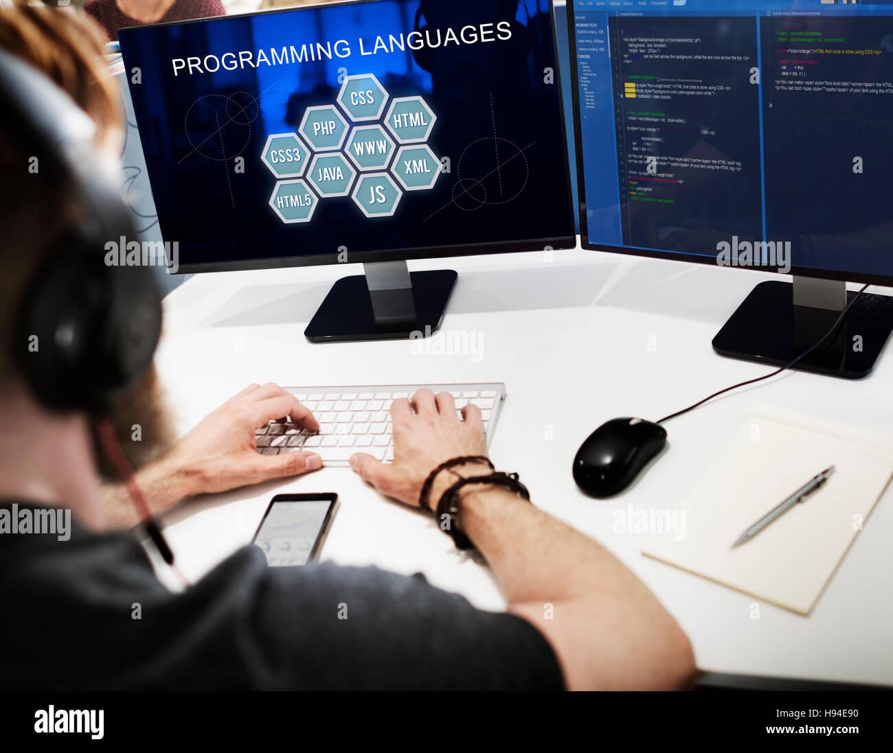 Programming Language Coding Developer Software Concept - Stock Image