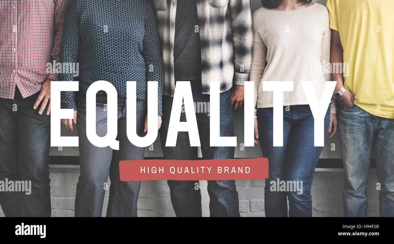 Equality Respect Uniformity Justice Moral Concept - Stock Image