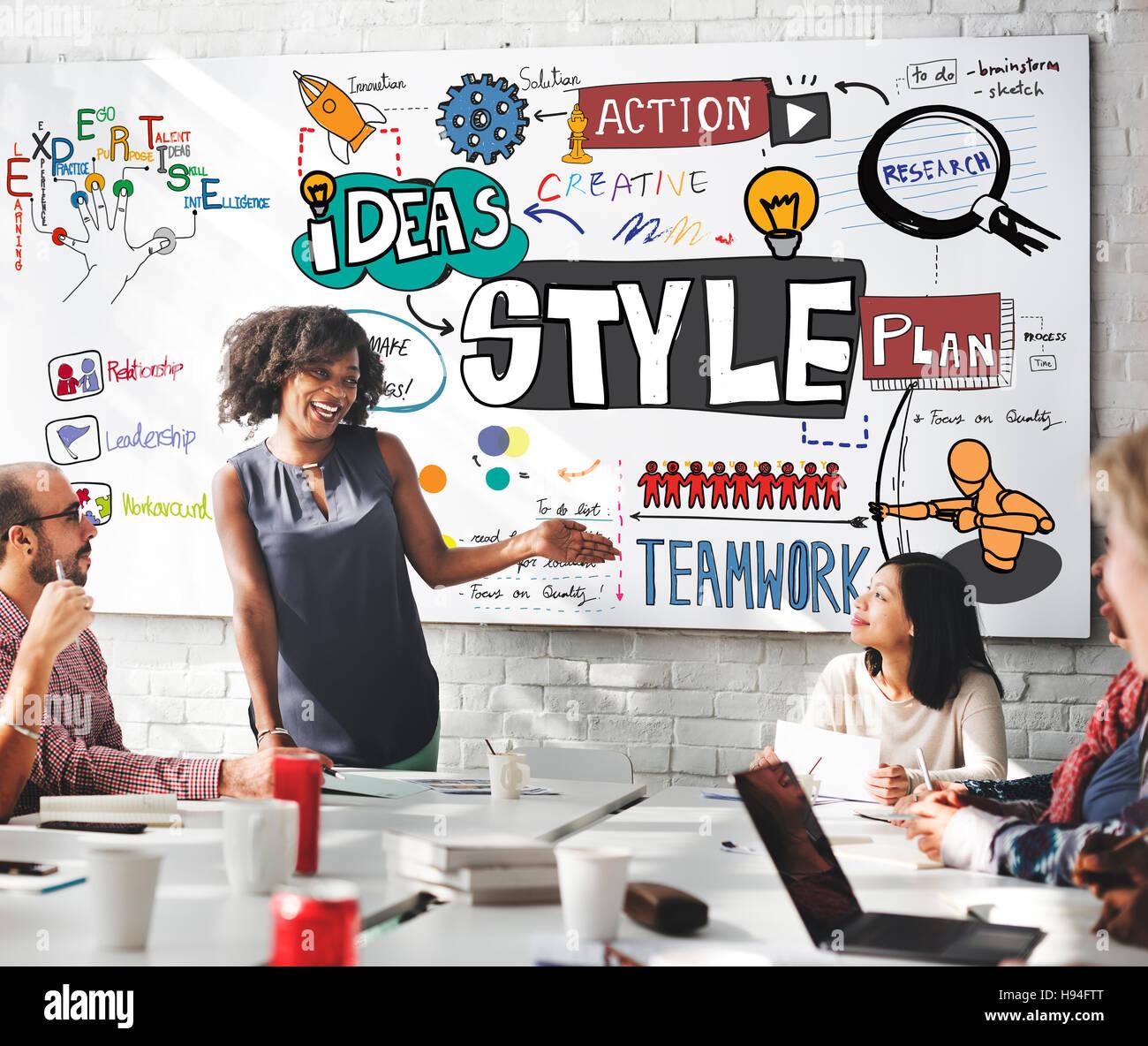 Style Design Decoration Posh Trends Vogue Chic Concept - Stock Image