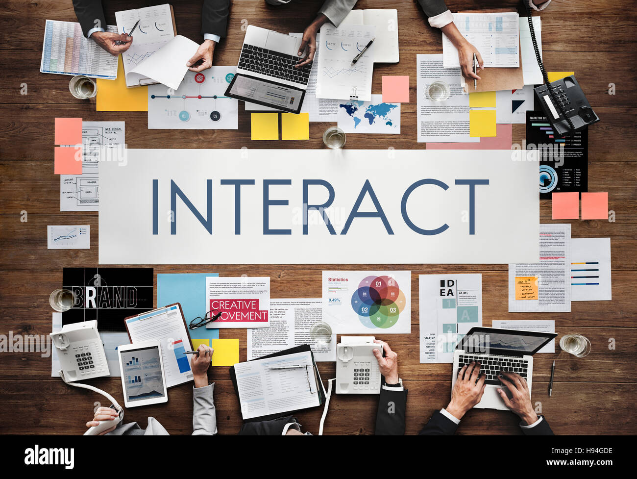 Interact Communication Connection Corporate Concept - Stock Image