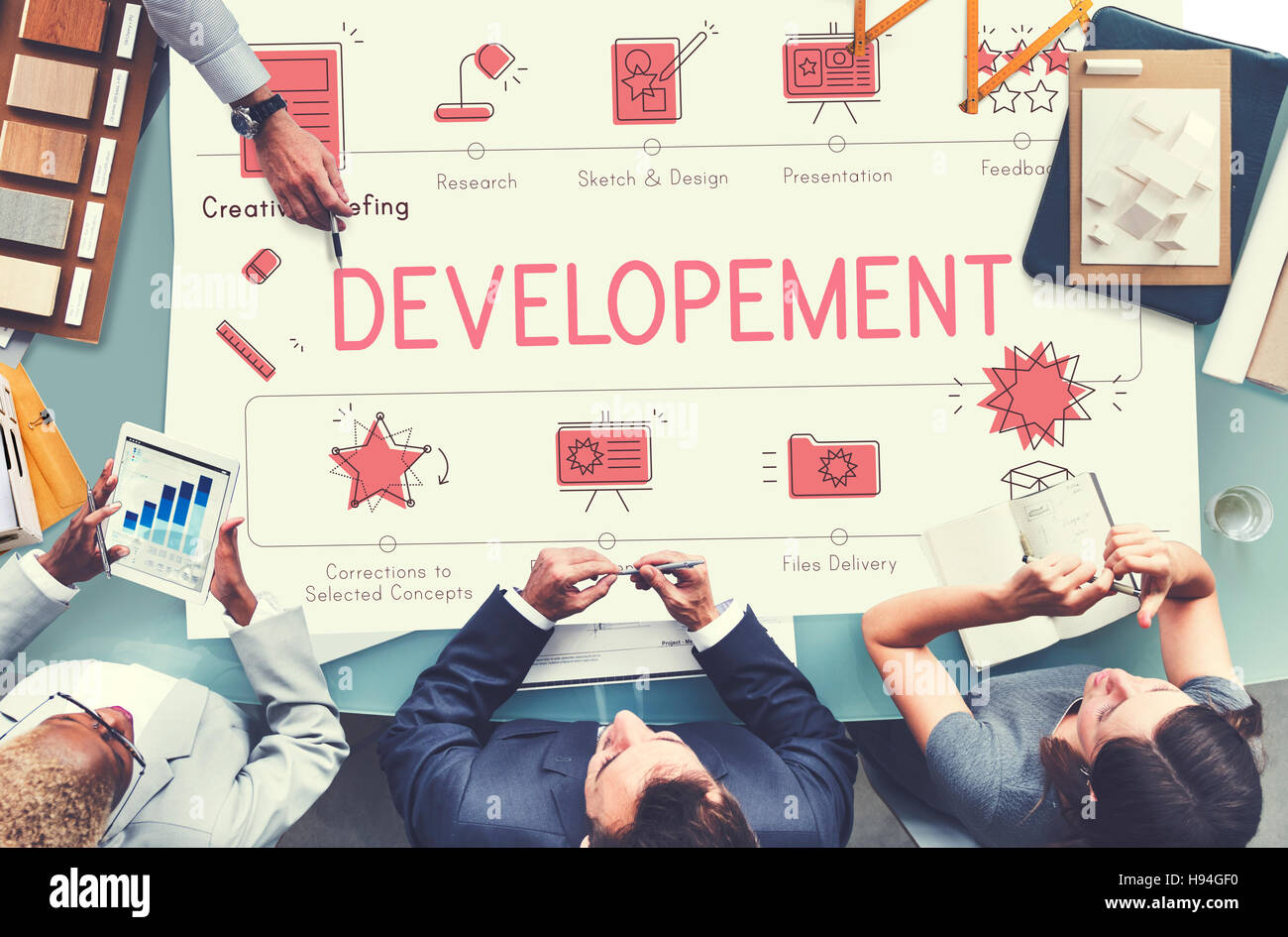 Design Development Visualize Creativity Concept - Stock Image