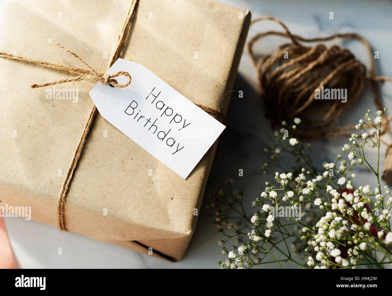 Happy Birthday Message Sign Concept - Stock Image