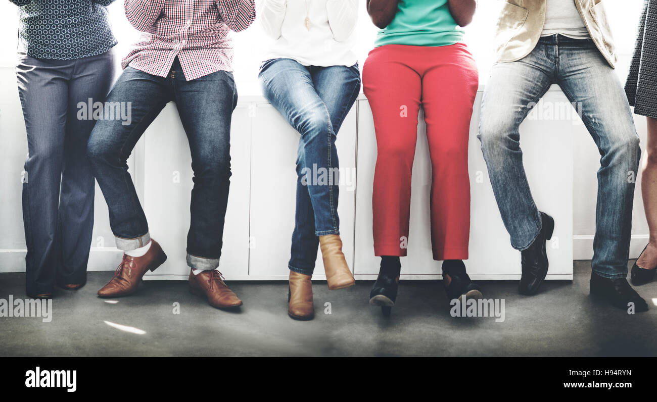 Lower Body People Team Together Concept - Stock Image