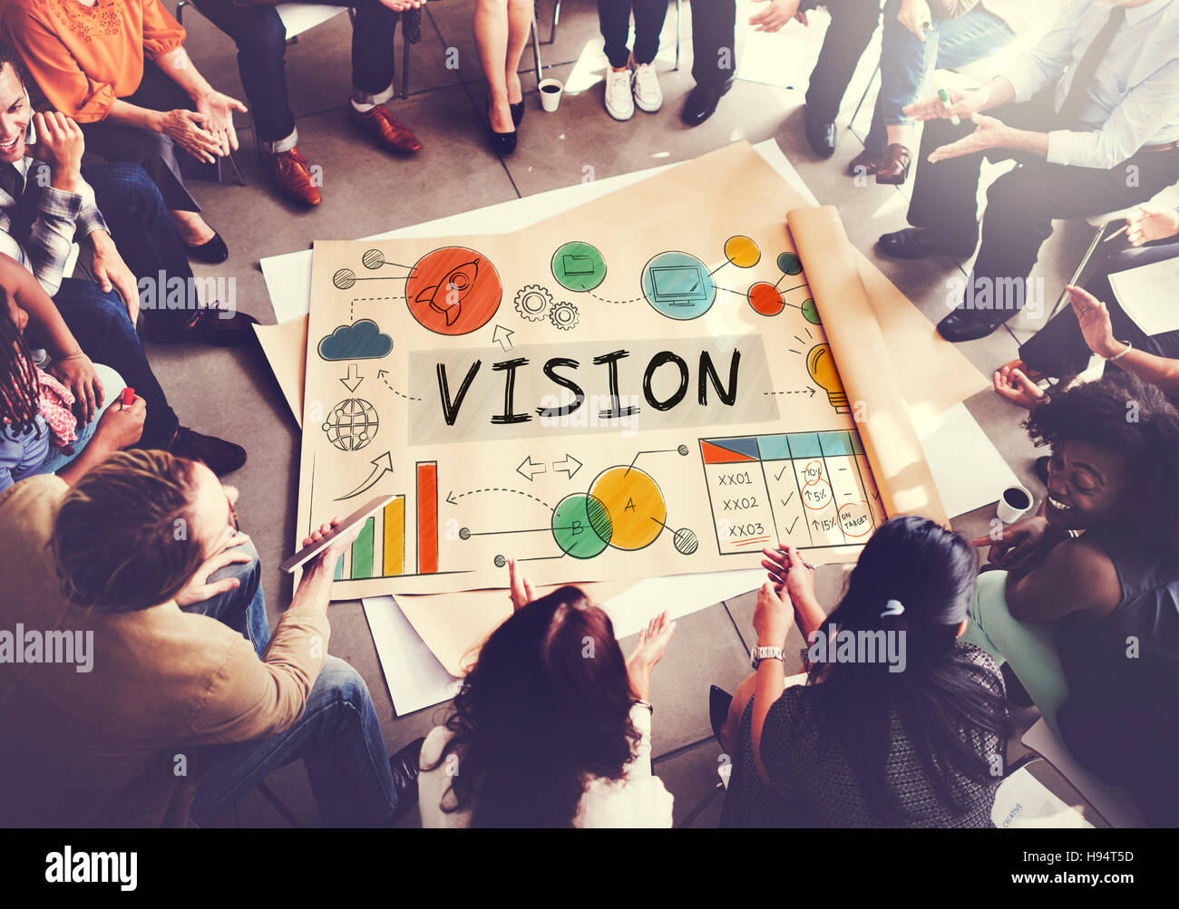 Vision Business Growth Corporate Target Concept - Stock Image