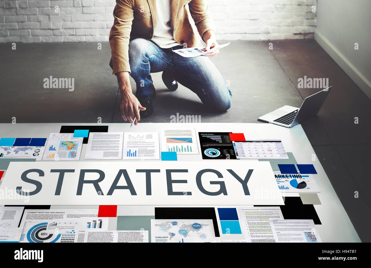 Strategy Strategize Strategic Tactics Planning Concept - Stock Image