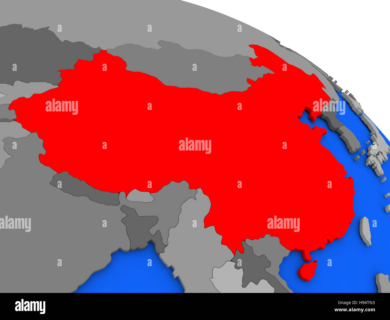 Map of china highlighted in red on a globe 3d illustration stock map of china highlighted in red on a globe 3d illustration gumiabroncs Choice Image