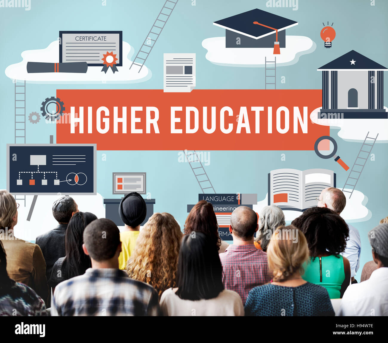 Higher Education Academic Bachelor Financial Aid Concept - Stock Image