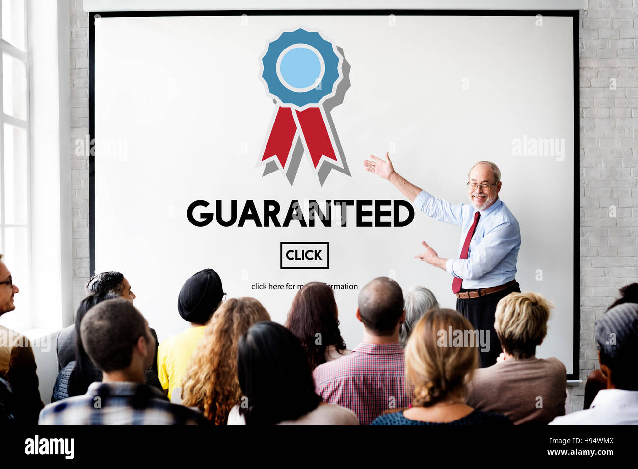 Guaranteed Warranty Quality Safety Service Concept - Stock Image