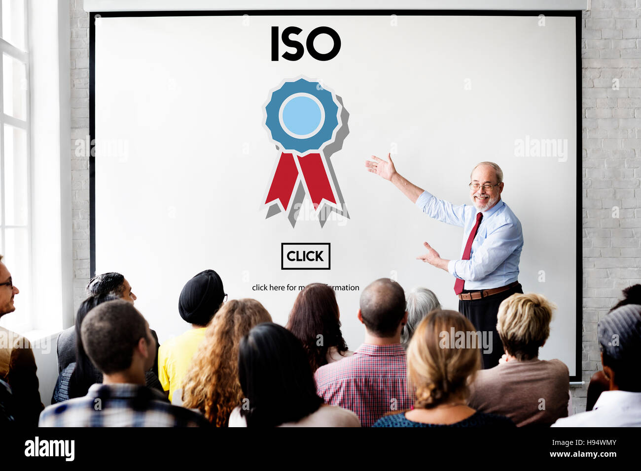 ISO International Standards Organization Quality Concept - Stock Image