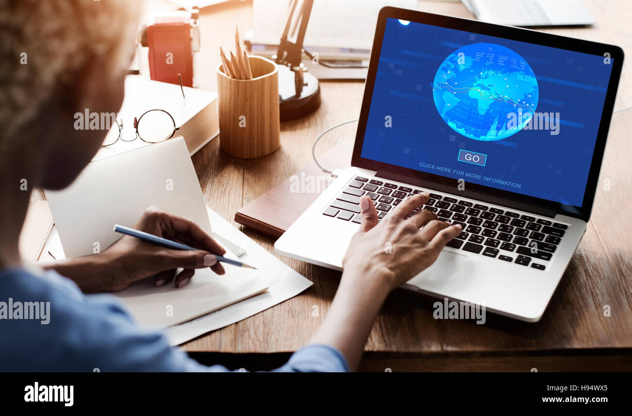 Global Financial Stock Market Concept - Stock Image