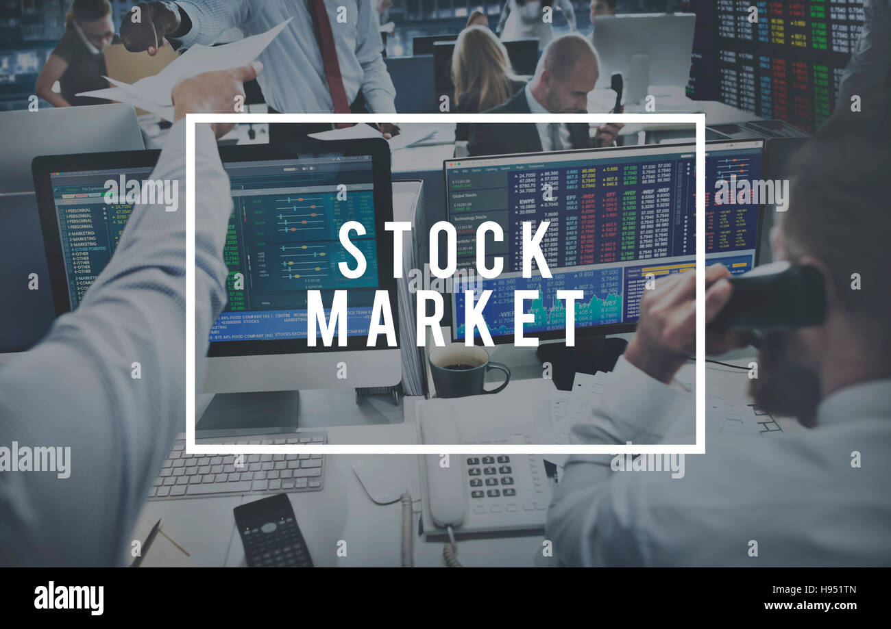 Stock Market Money Buy Sell Concept - Stock Image