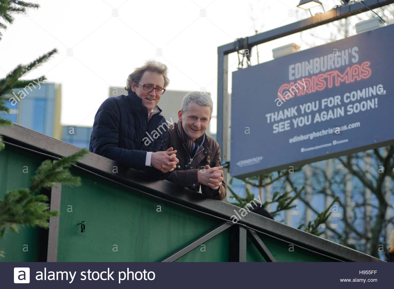 Edinburgh, UK. 18 November, 2016. Charlie Wood (l) Director of Underbelly, promoters of Edinburgh's Christmas - Stock Image