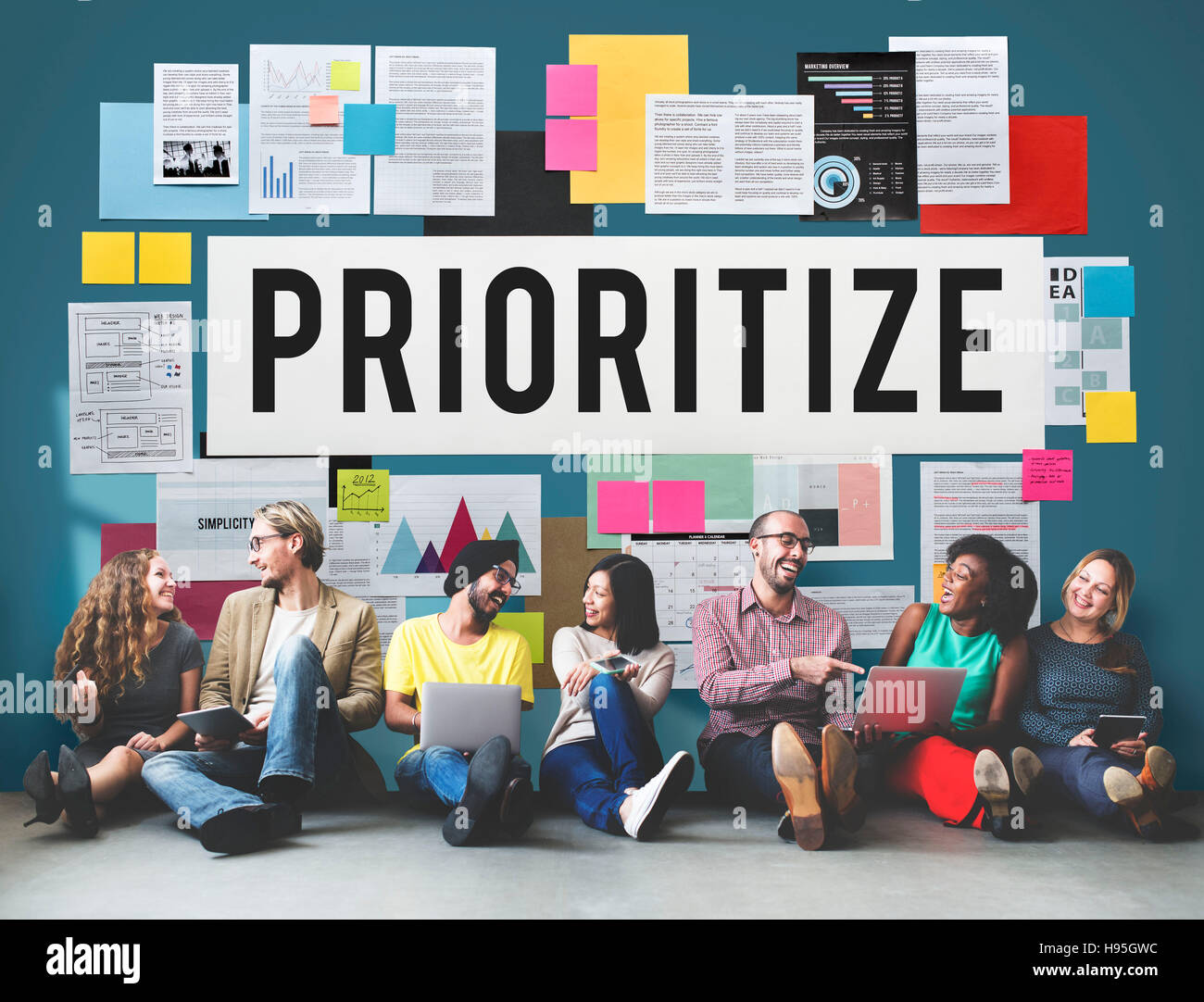 Prioritize Efficiency Expedite Importance Issues Concept - Stock Image