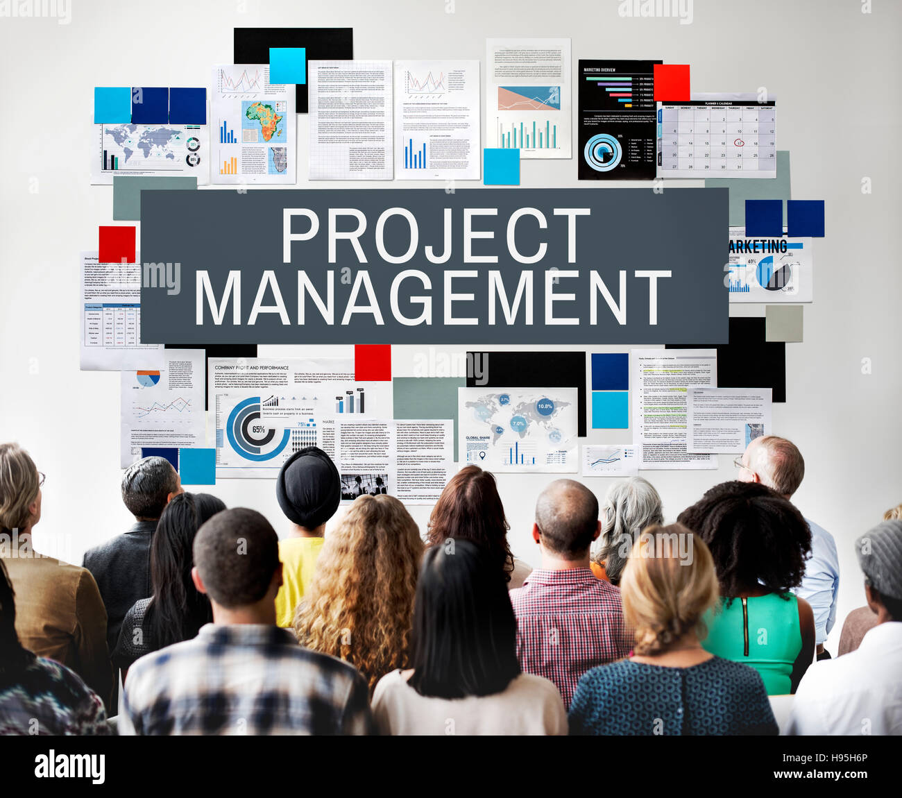 Project Management Methods Processes Concept - Stock Image