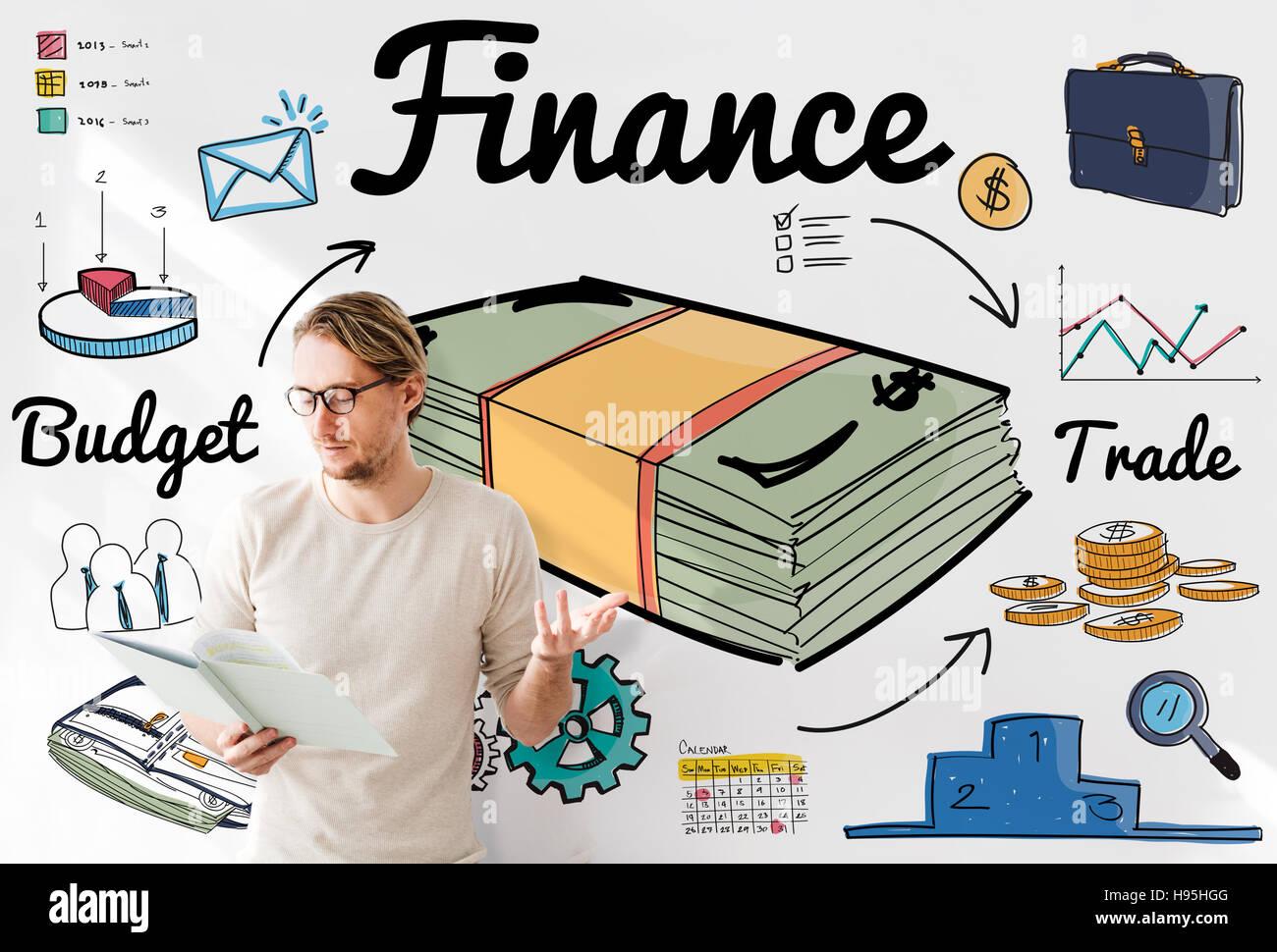 Finance Money Debt Expenditure Trade Concept Stock Photo