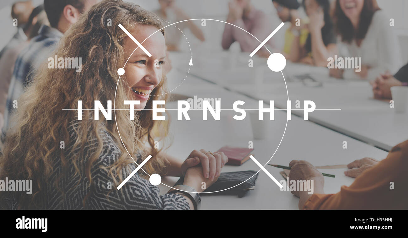 Internship Learning Career Preparation Concept - Stock Image