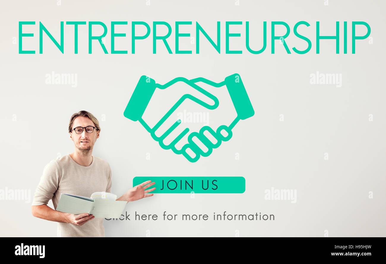 Entrepreneurship Corporate Enterprise Dealer Concept - Stock Image