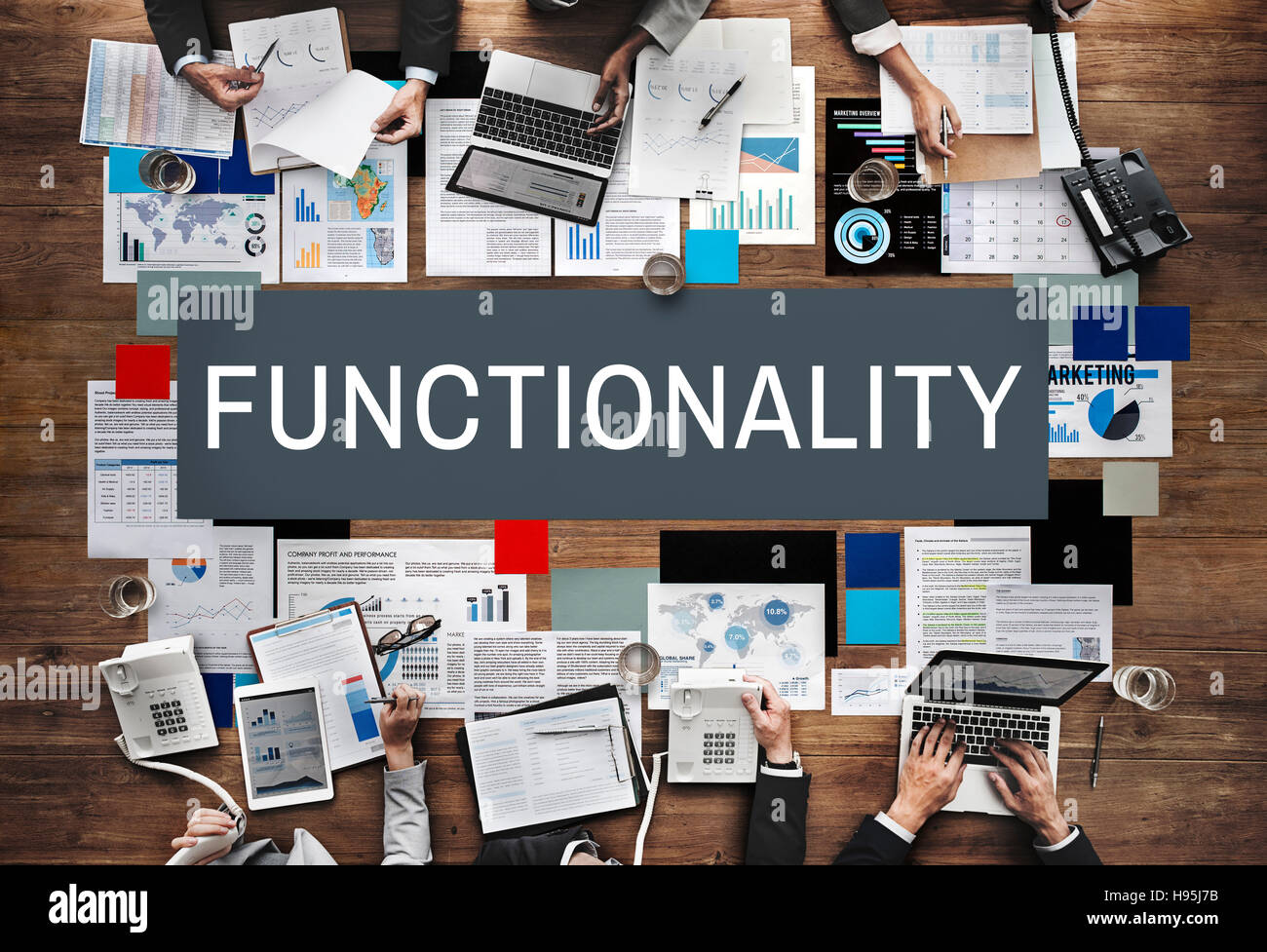 Functionality Digital Computer System Practical Concept Stock Photo
