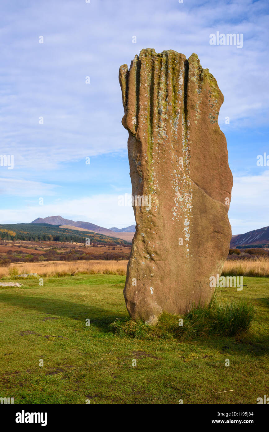 Machrie Moor stone circles, Isle of Arran, North Ayrshire, Scotland - Stock Image