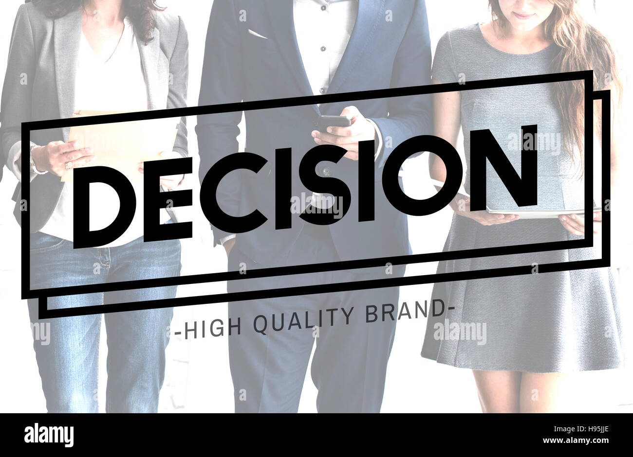 Decision Choice Resolution Dilemma Concept - Stock Image