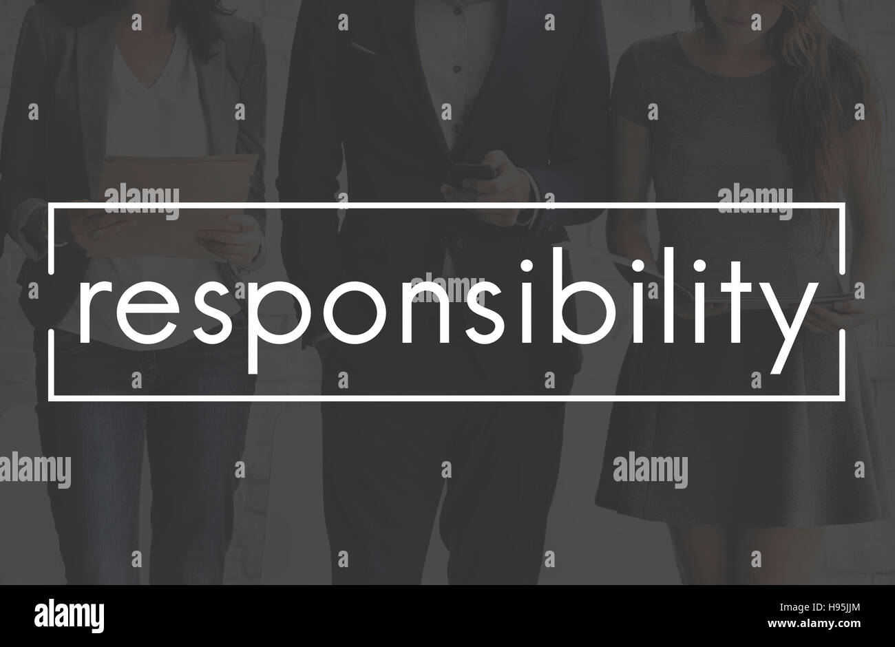 Responsibility Accountability Roles Task Concept - Stock Image