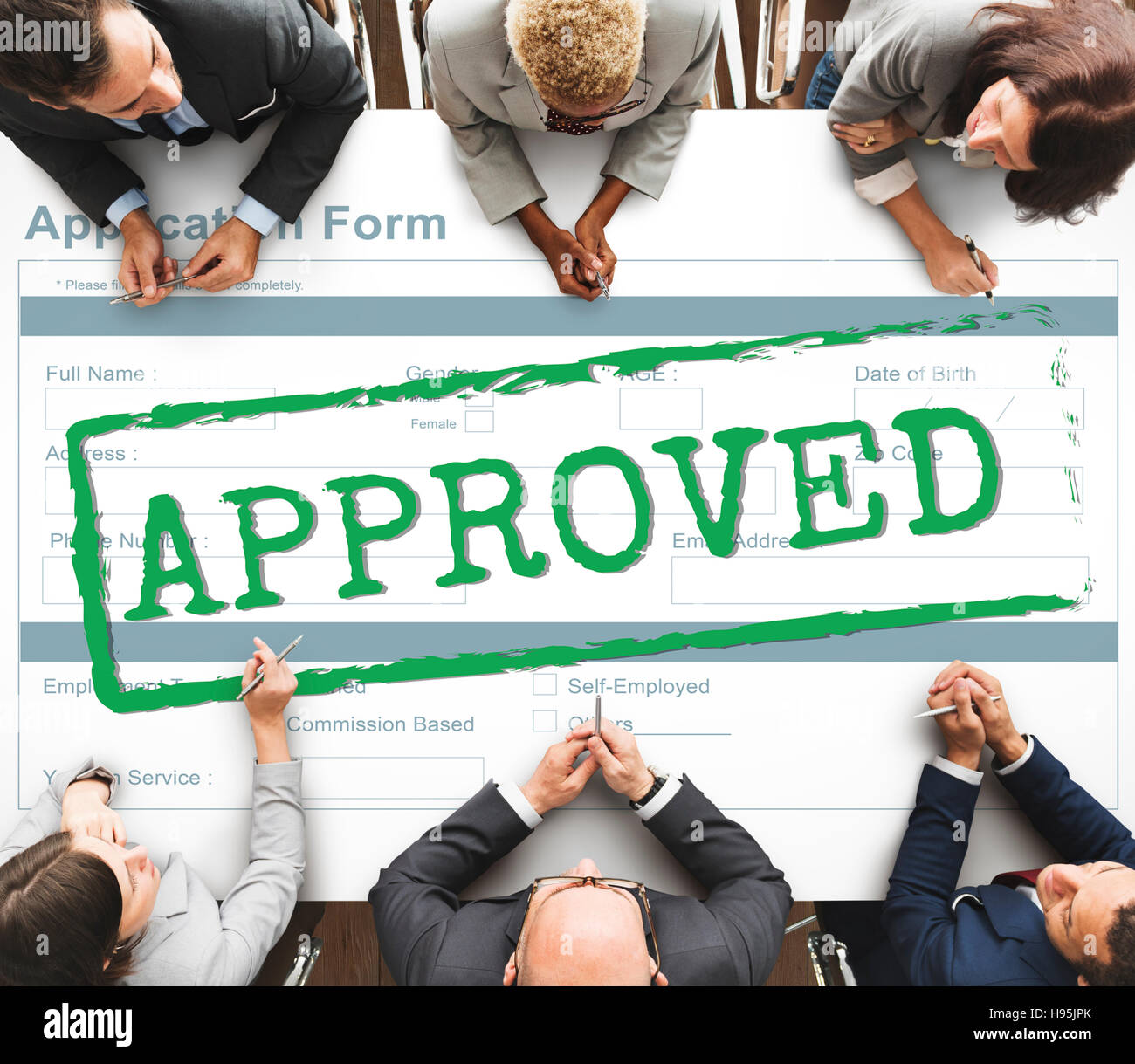 Approved Agreement Allowed Validation Concept - Stock Image
